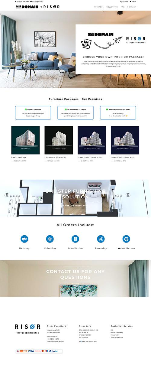 Our Domain + Risor Website Design